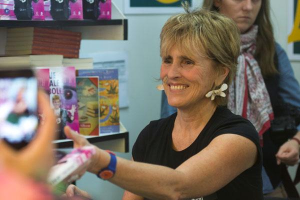 Mercedes Milá en la Feria del Libro de Madrid