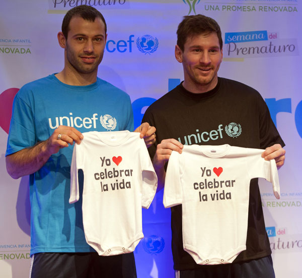 Messi-ranas Unicef