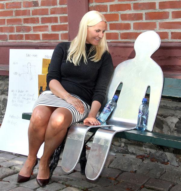 Mette-Marit en el parque en Oslo