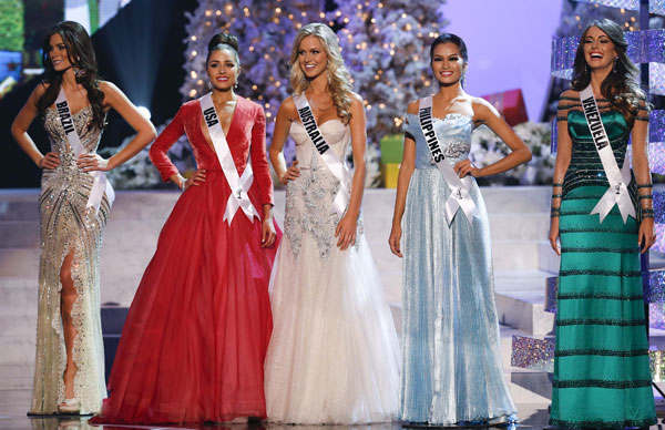 Miss Brasil, Miss Estados Unidos, Miss Australia, Miss Filipinas y Miss Venezuela, Misses-finalistas-Miss-Universo