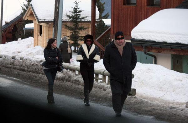 Naomi-Campbell en Courchevel el 10/01/2009
