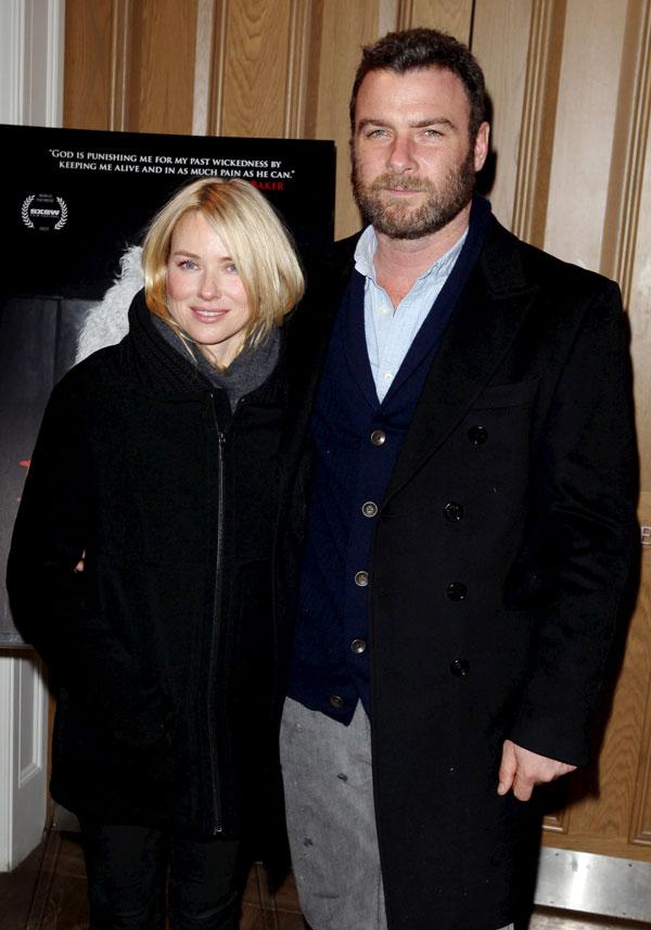 Naomi-Watts-y Liev Schreiber en Nueva York