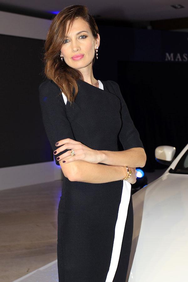 Nieves Álvarez madrina del nuevo Maserati