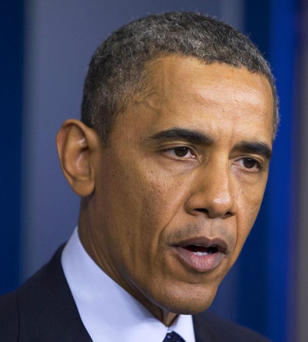 Obama en la sala de prensa de la Casa Blanca