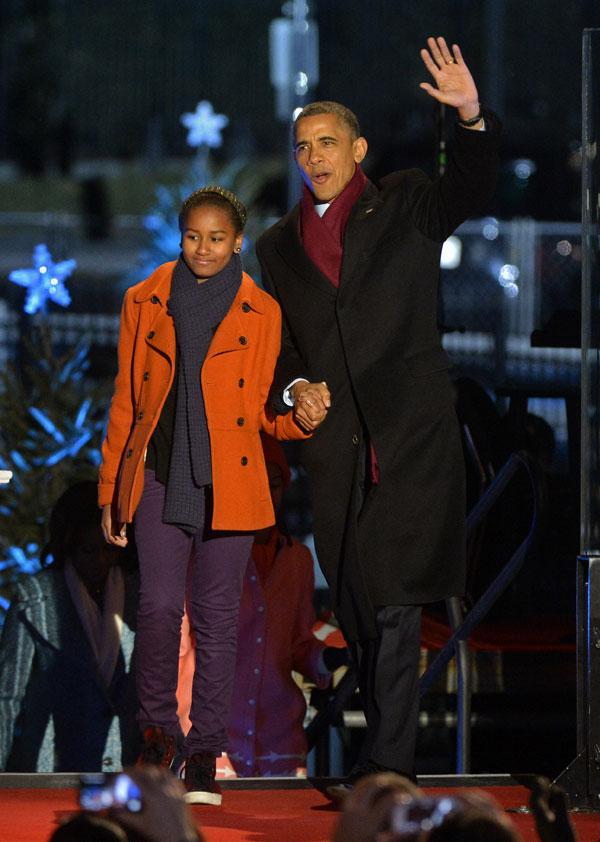 Barack Obama e hija