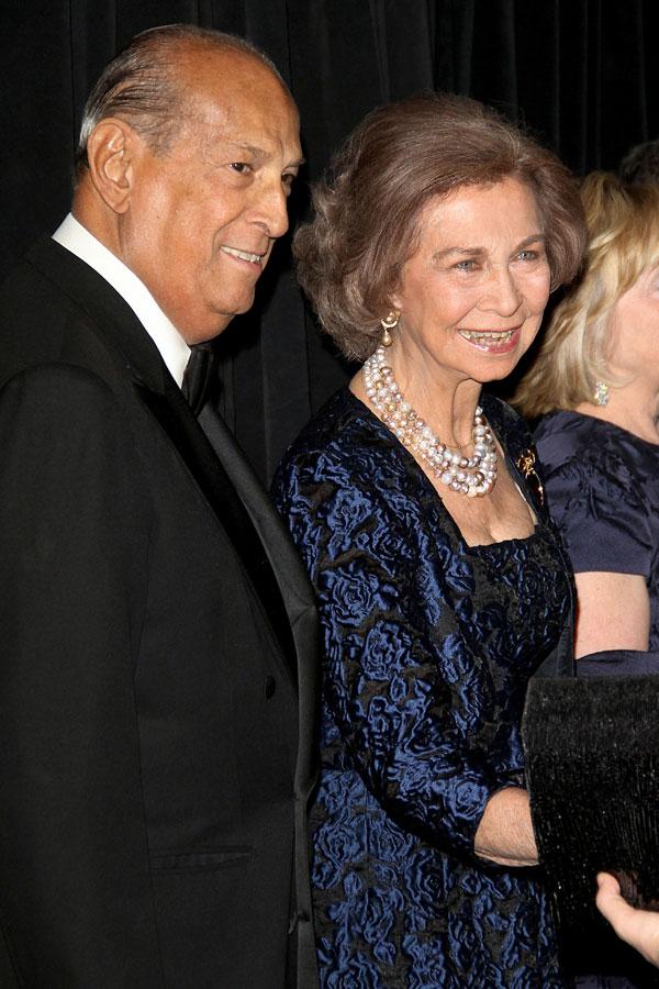 Oscar de la Renta y Reina Sofia