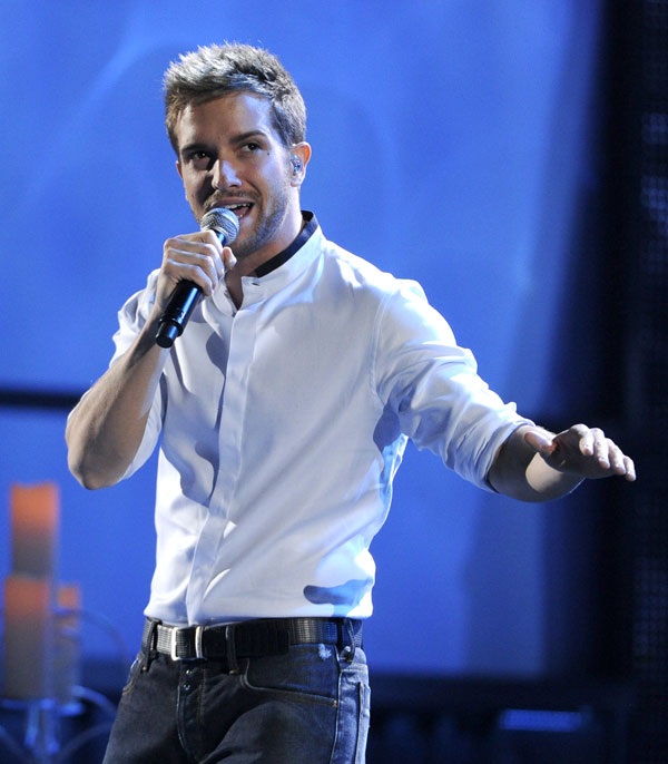 Pablo Alborán en el show de la gala de los Premios Grammy Latinos 2013