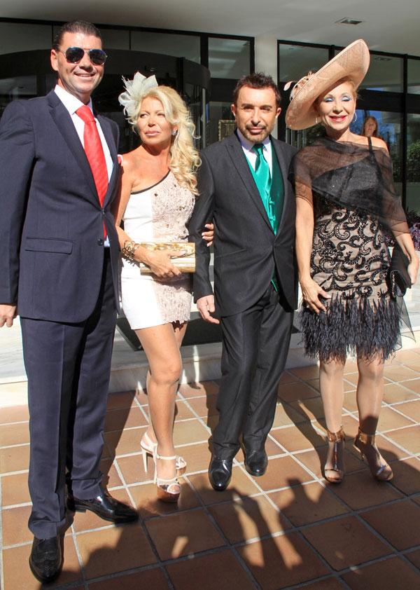 José Manuel Parada y Jenny Llada invitados en la boda de Victor Janeiro y Beatriz Trapote