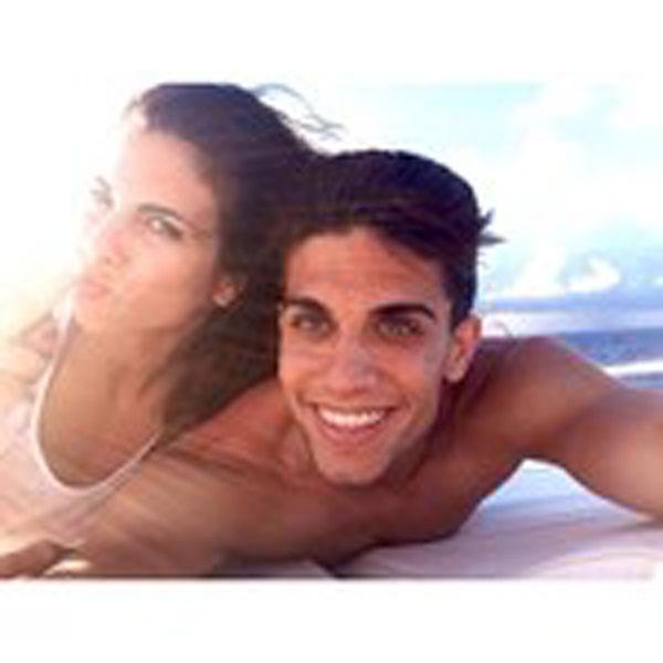 Marc Bartra y Melissa Jiménez en Instagram en Maldivas en mayo de 2014