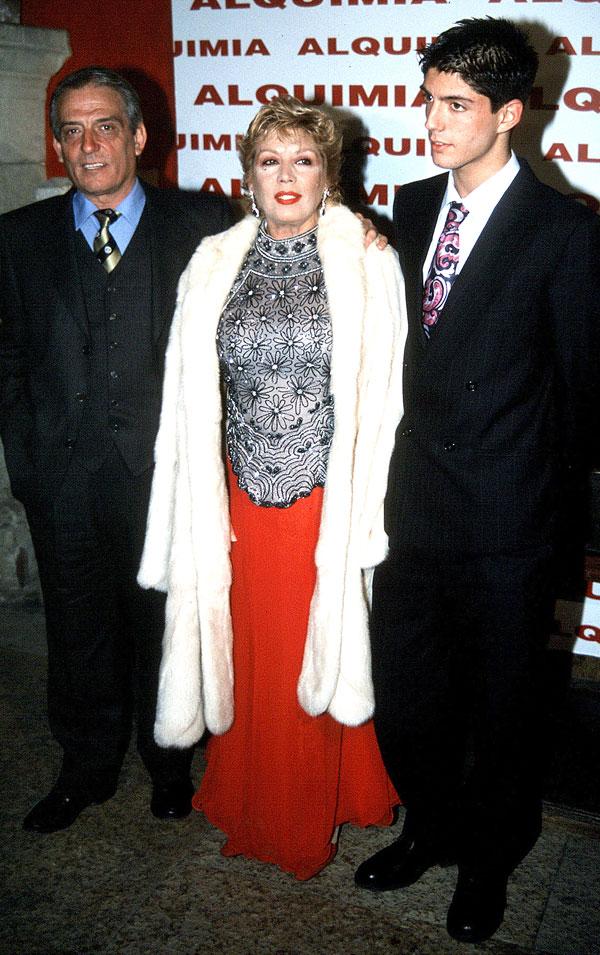 Pepe Sancho, María Jiménez y su hijo, Alejandro