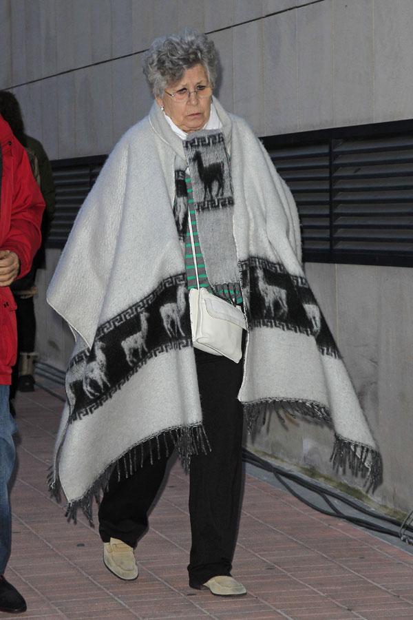 LA ACTRIZ PILAR BARDEM DURANTE EL ENTIERRO DE AMPARO BARO 29/01/2015 MADRID
