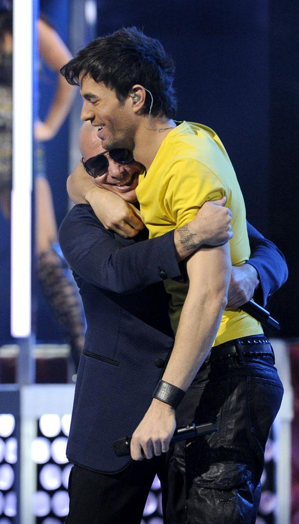 Pittbull y Enrique Iglesias en la gala de los Grammy Latinos 20213