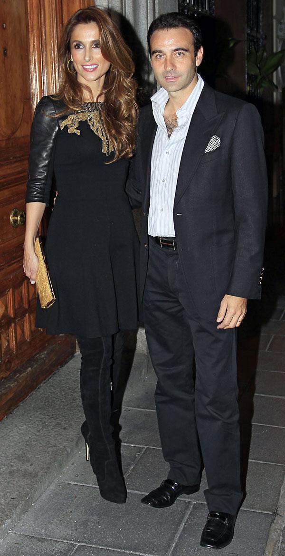 Enrique Ponce y Paloma Cuevas en Madrid en la fiesta del 30 cumpleaños de Margarita Vargas
