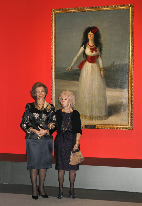 Reina Sofía y Cayetana Alba