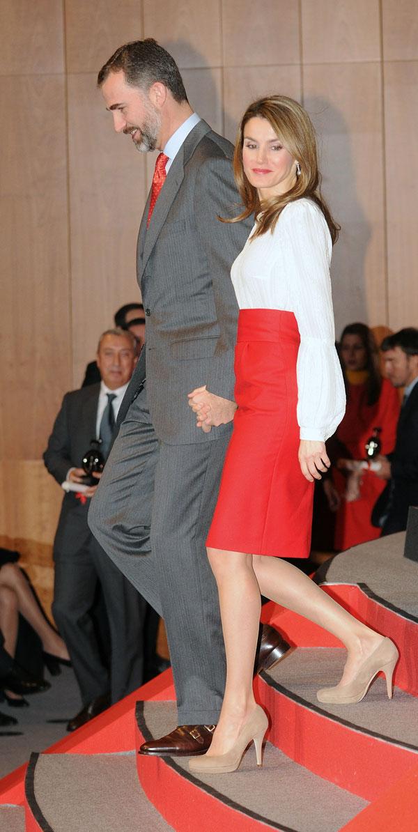 Los príncipes de Asturias con los Embajadores de la Marca España