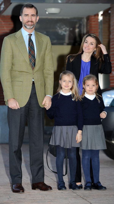 Los príncipes de Asturias y las infantas, Leonor y Sofía, en La Milagrosa