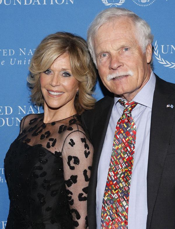 Jane Fonda y Ted Turner