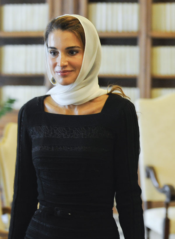 Rania de Jordania en El Vaticano