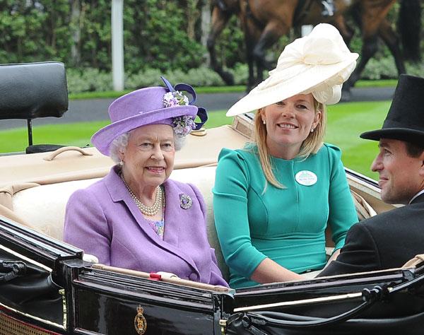 Isabel II en las carreras de Ascot