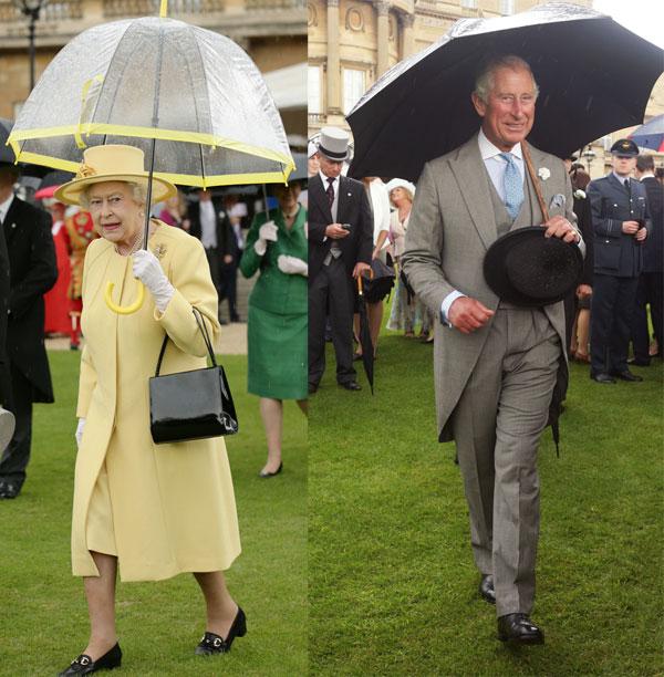 La reina Isabel II y el príncipe de Gales asiste a una fiesta de jardín en el Buckingham Palace, el centro de Londres. 03/06/2014