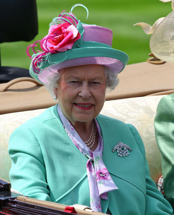 Isabel II ayer en Ascot