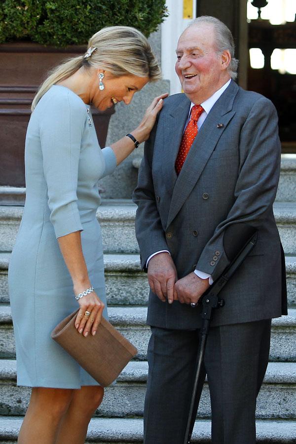 Rey-Juan Carlos con-maxima de Holanda