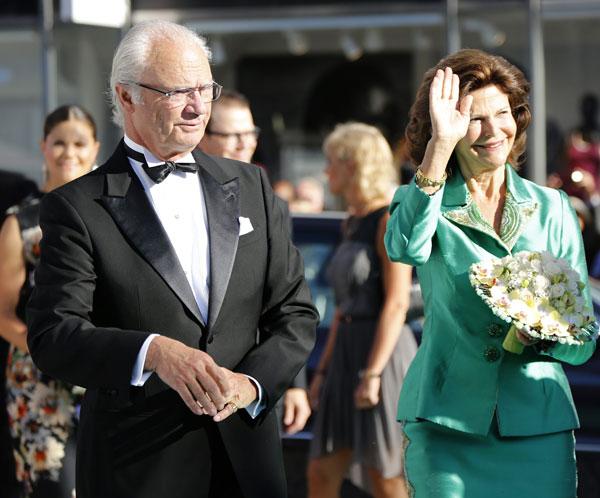 Los reyes Carlos Gustavo y Silvia de Suecia  en los premios Polar de Estocolmo, los Nobel de la Musica