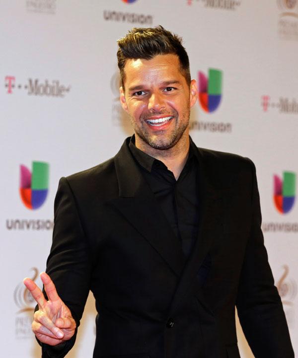 Ricky Martin en la entrega de premios Lo Nuestro