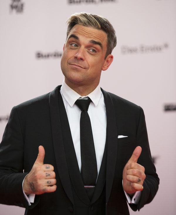 Robbie Williams en Berlín, en la entrega de los premios Bambi 2013