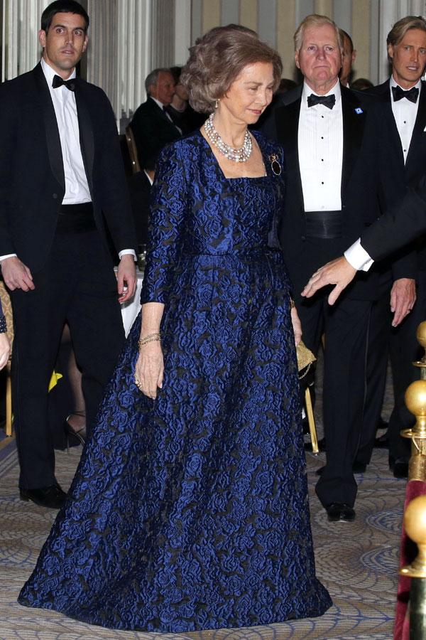 La reina Sofía en la gala de las medallas de oro que llevan su nombre en Nueva York