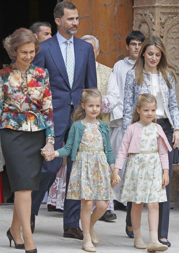 Reina Sofía, príncipes de Asturias e infantas Leonor y Sofía en Palma de Mallorca