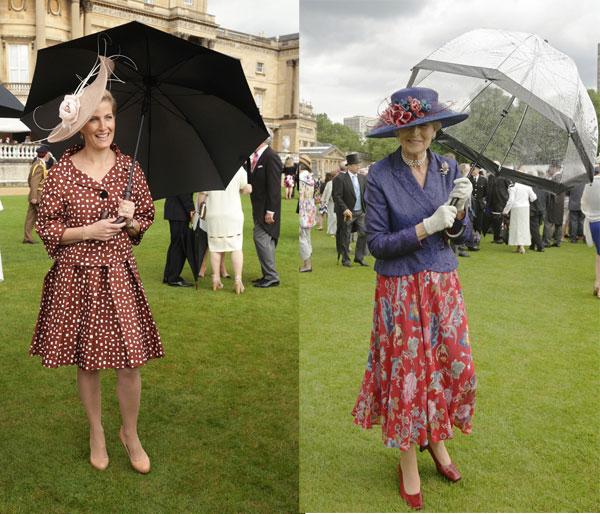 La condesa de Wessex y la princesa Alexandra asiste a una fiesta de jardín en el Buckingham Palace, el centro de Londres. 03/06/2014