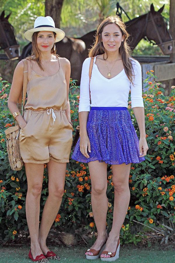 Tamara Falcó Preysler y Astrid Muñoz en el Polo de Sotogrande.