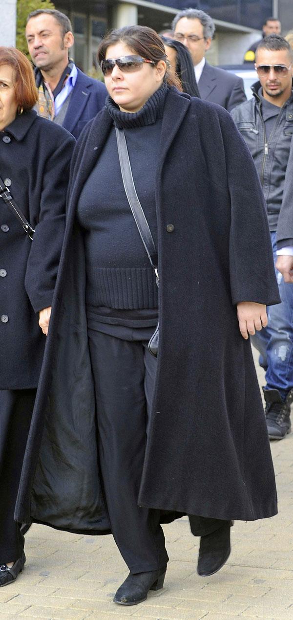 Thais Tous en el entierro de su madre en Madrid