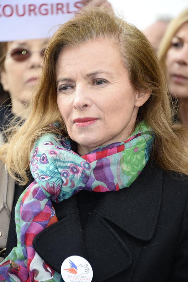 Valerie Trierweiler en Paris en mayo de 2014