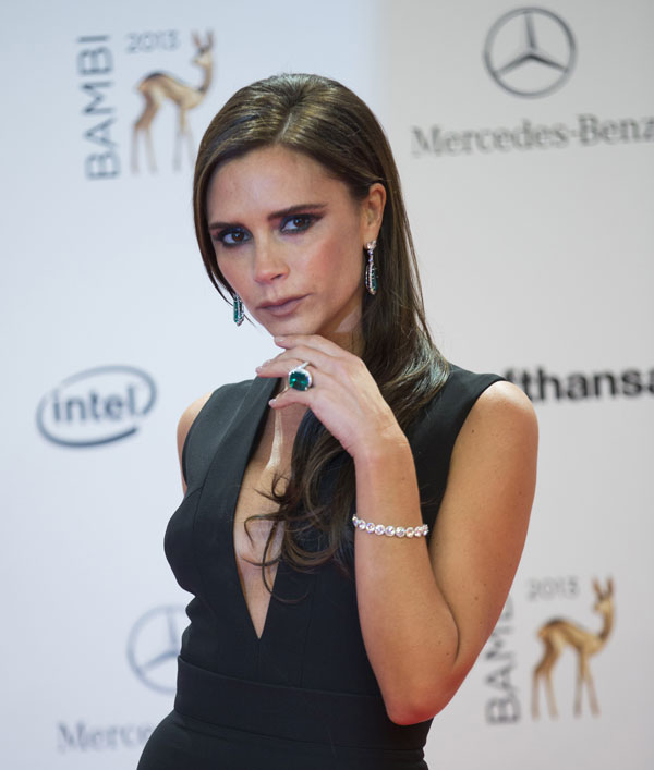 Victoria Beckham en Berlín, en la gala de los premios Bambi 2013