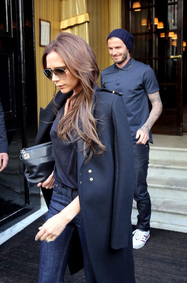 Victoria Adams y David Beckham