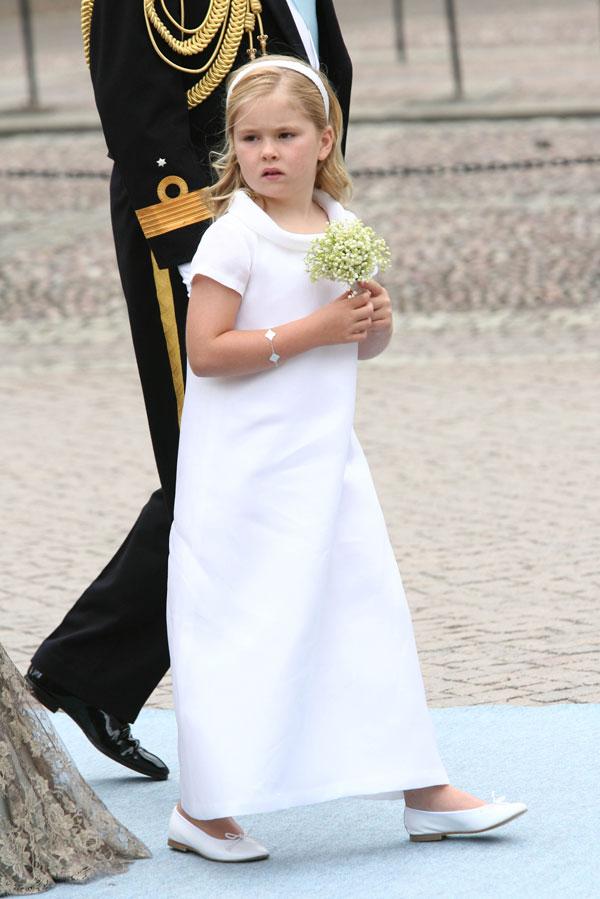 Dama de honor en la boda de Victoria de Suecia