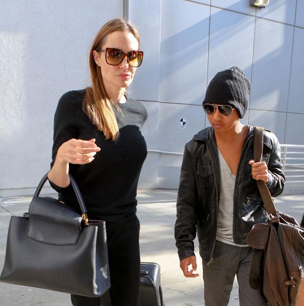 Angelina Jolie y Maddox en Los Ángeles