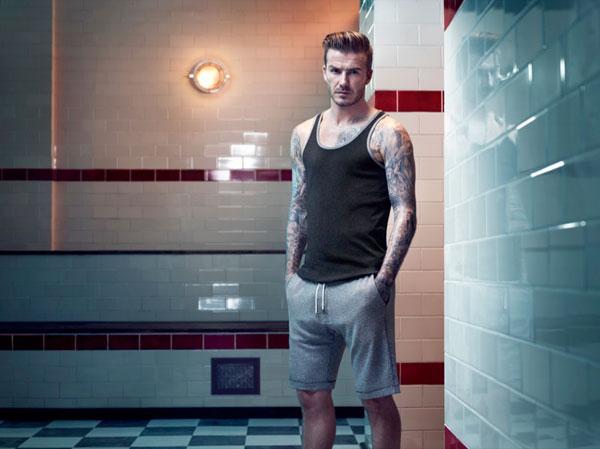 David Beckham en ropa interior