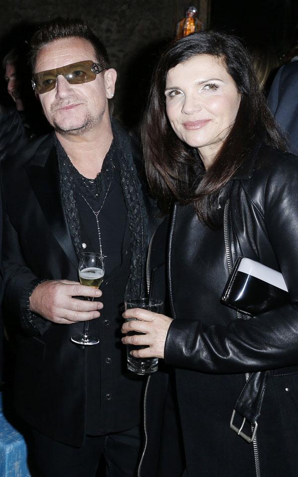 bono, con su mujer