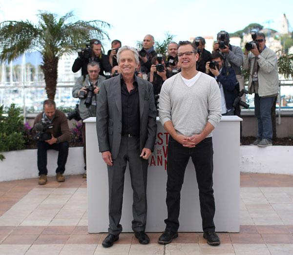 Michael Douglas y Matt Damon