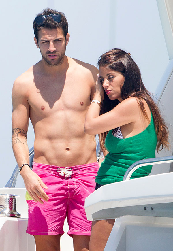 Cesc Fabregas and Daniella Semaan on holidays in Ibiza, on Monday July 8, 2013