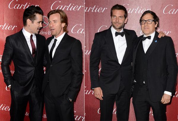 Colin Farrell, Ewan macGregor, Bradley Cooper en los Premios Palm Springs 2014