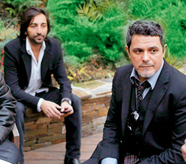 Paco de Lucía, Antonio Carmona y Alejandro Sanz en la SGAE de Madrid el 14/12/2010