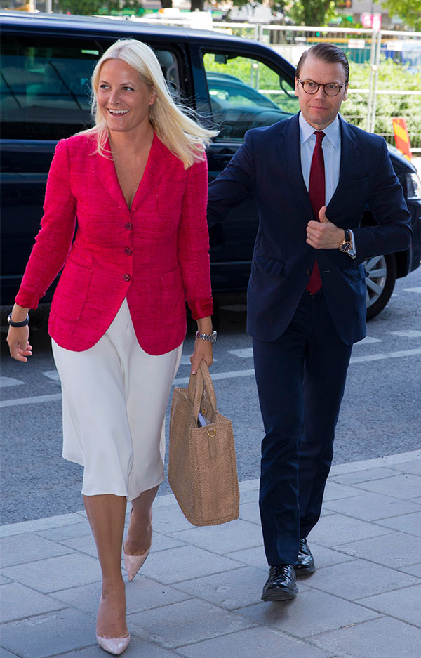 Prince Daniel and Princess Mette Marit attending at the Stockholm Food Forum in Stockholm
