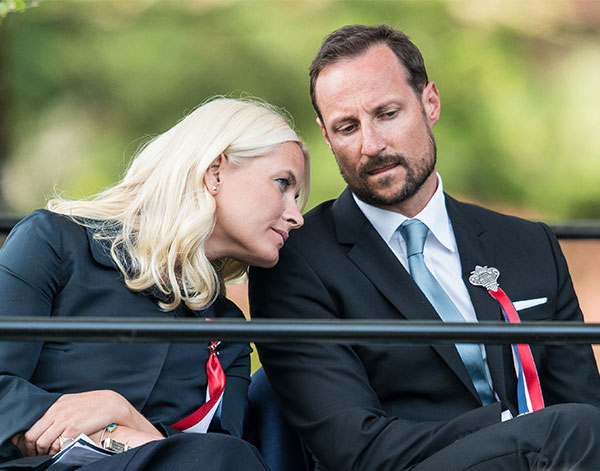 Crown Princess Mette-Marit and Crown Prince Haakon attend the celebration of the Bicentenary of the Norwegian Constitution at Eidsvoll,