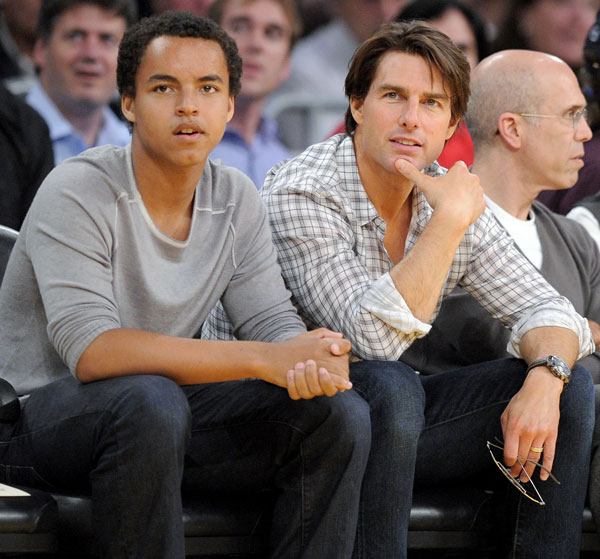 Tom Cruise y su hijo Connor