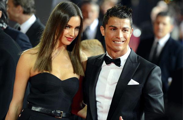 Cristianao Ronaldo llegó con su novia, la modelo Irina Shayk