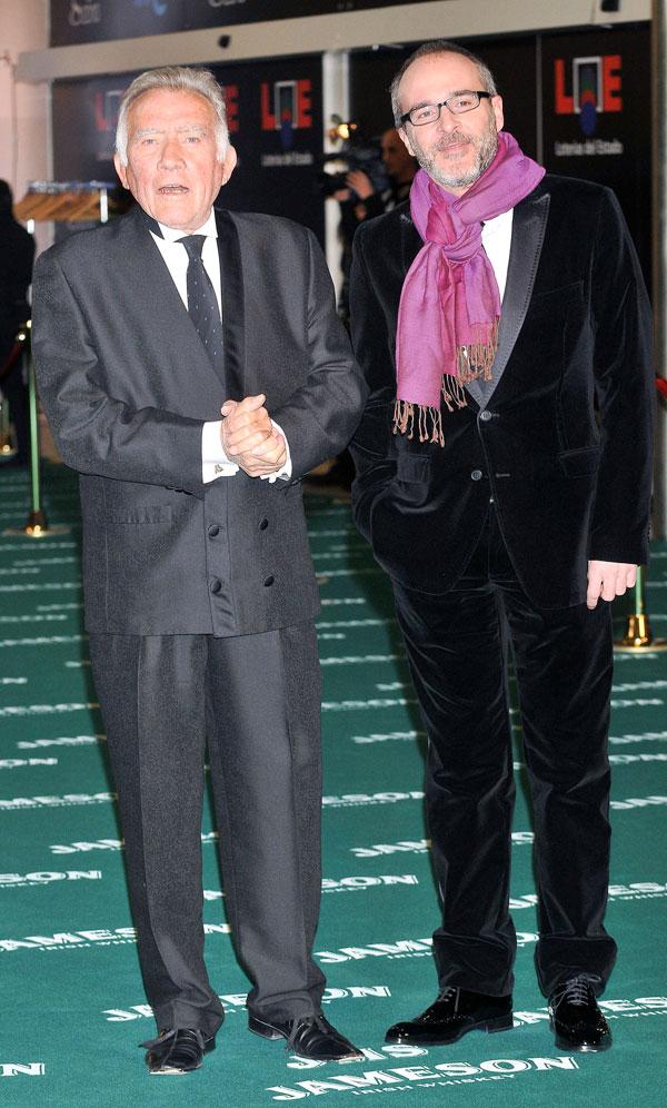 Fernando Guillén con su hijo, el actor Fernando Guillén Cuervo